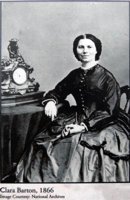 Clara Barton, 1866 image. Click for full size.
