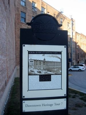 Aurora Silverplate Manufacturing Co. Marker image. Click for full size.