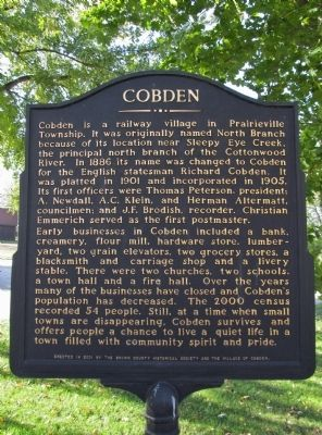 Cobden Marker image. Click for full size.