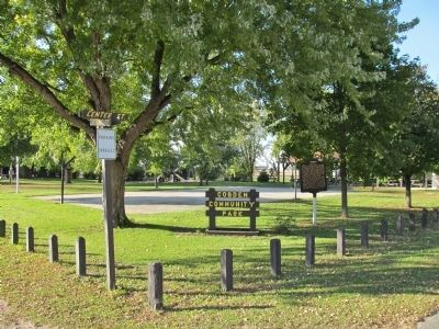 Cobden Community Park and Marker image. Click for full size.