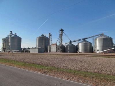 Nearby Railroad and Grain Elevators image. Click for full size.