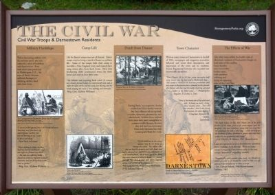 Civil War Troops & Darnestown Residents Marker image. Click for full size.