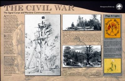 The Signal Corps and Wartime Communications Marker image. Click for full size.