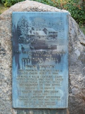 Southern Hotel and Stage Station Marker image. Click for full size.