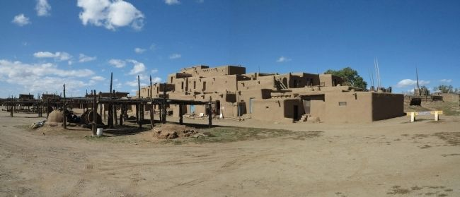 Taos Pueblo image. Click for full size.