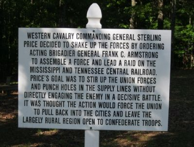 Western cavalry Commanding General Sterling Price image. Click for full size.