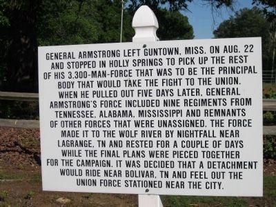 General Armstrong left Guntown, Mississippi image. Click for full size.