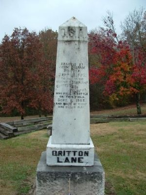 Britton Lane Confederate Soldiers Memorial image. Click for full size.