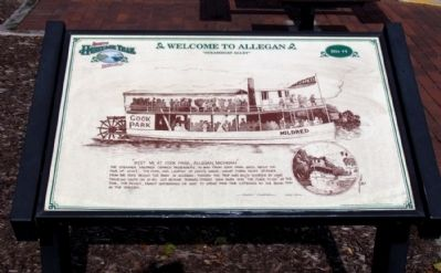 Welcome to Allegan Marker image. Click for full size.