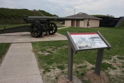 U.S. Model 1918M1 155mm Gun and Model 1918A1 Carriage Marker image. Click for full size.
