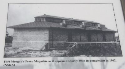 Fort Morgan's Peace Magazine as it appeared shortly after its completion in 1902. (NSRA) image. Click for full size.