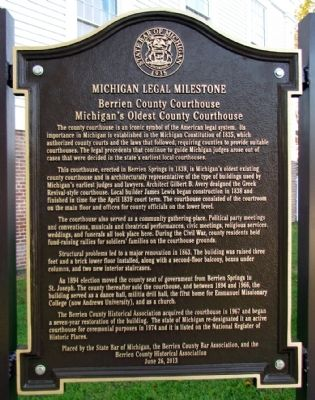 Berrien County Courthouse Marker image. Click for full size.