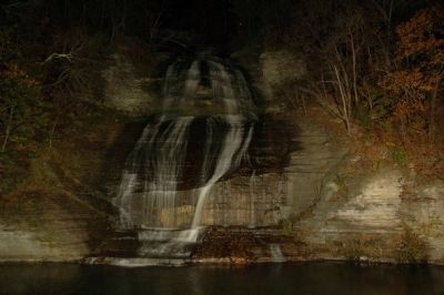 Shequaga Falls Park, Lit at Night image. Click for full size.