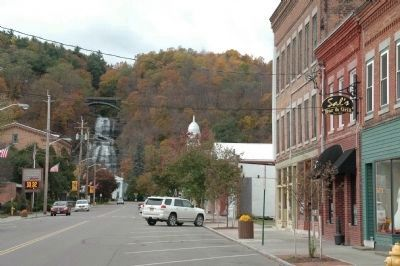 She-Qua-Ga Falls from W. Main Street, Montour Falls, NY image. Click for full size.