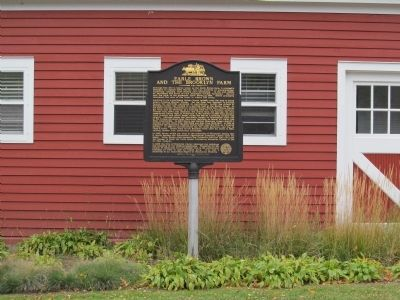 Earle Brown and the Brooklyn Farm Marker image. Click for full size.