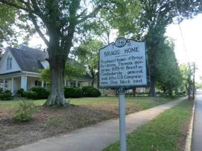 Bragg Home Marker image. Click for full size.