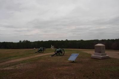 Battlefield Monuments in Snodgrass Field image. Click for full size.