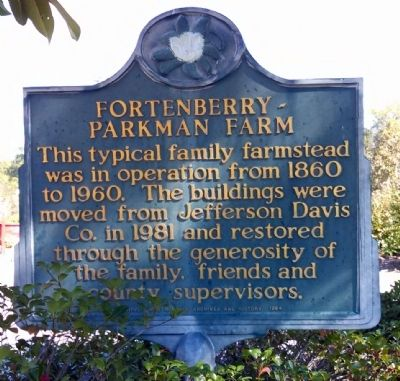 Fortenberry - Parkman Farm Marker image. Click for full size.