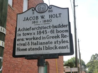 Jacob W. Holt Marker image. Click for full size.