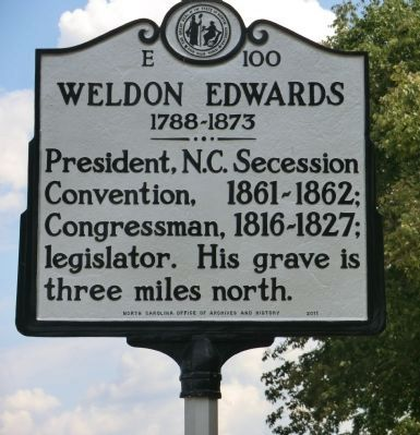 Weldon Edwards Marker image. Click for full size.