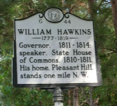 William Hawkins Marker image. Click for full size.