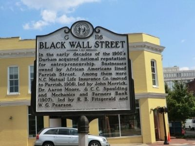 Black Wall Street Marker image. Click for full size.