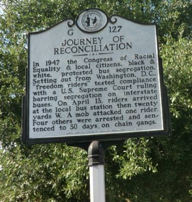 Journey of Reconcilation Marker image. Click for full size.