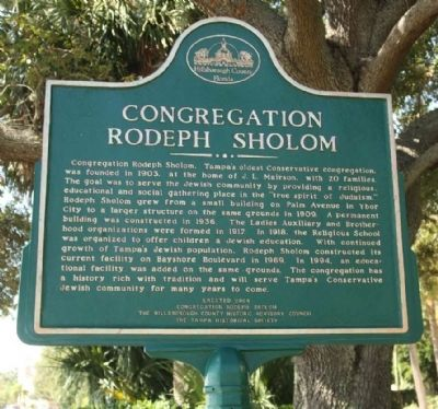 Congregation Rodeph Sholom Marker image. Click for full size.