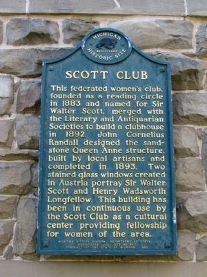 Scott Club Marker image. Click for full size.
