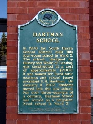 Hartman School Marker image. Click for full size.