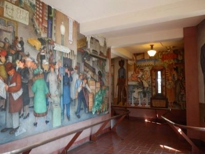WPA Murals Located Inside the Base of Coit Tower image. Click for full size.