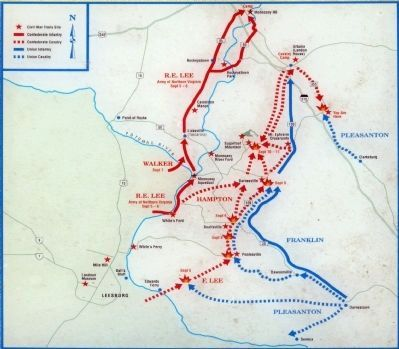 Map of the Antietam Campaign image. Click for full size.