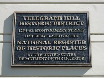 Telegraph Hill Historic District Marker image. Click for full size.