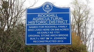 Rockhill Agricultural Historic District Marker image. Click for full size.