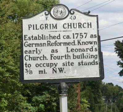 Pilgrim Church Marker image. Click for full size.