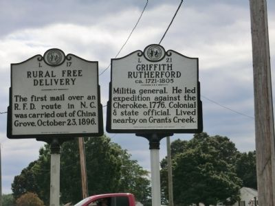 Griffith Rutherford Marker image. Click for full size.
