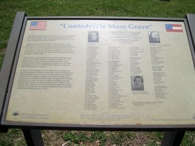 """Confederate Mass Grave"" Marker image. Click for full size."