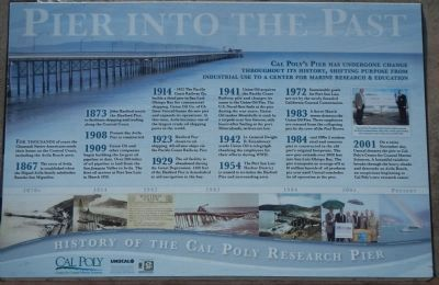 Pier Into The Past Marker image. Click for full size.