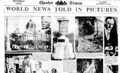 1928 newspaper clipping showing the monument in Washington DC. image. Click for full size.