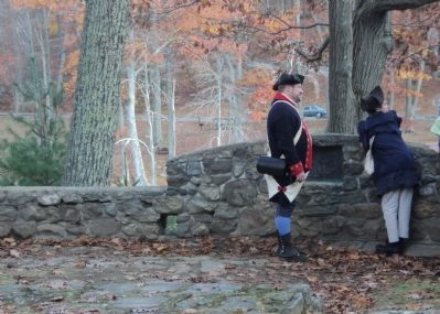 Reenactors at the Charles Burr Todd Marker image. Click for full size.