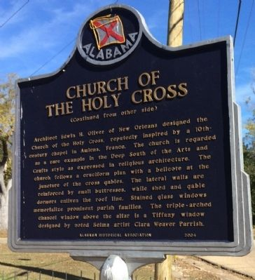 Church of the Holy Cross Marker (reverse) image. Click for full size.