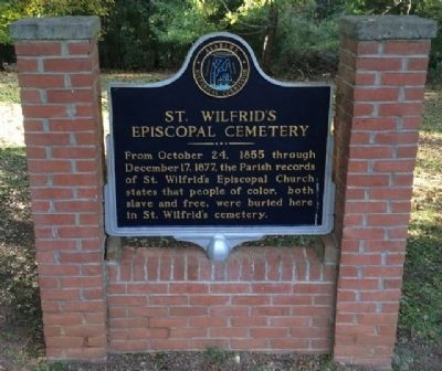 St. Wilfrid's Episcopal Cemetery Marker image. Click for full size.