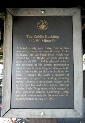 The Riddle Building Marker image. Click for full size.