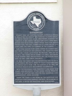Gatesville Marker image. Click for full size.