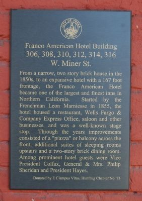 Franco American Hotel Building Marker image. Click for full size.