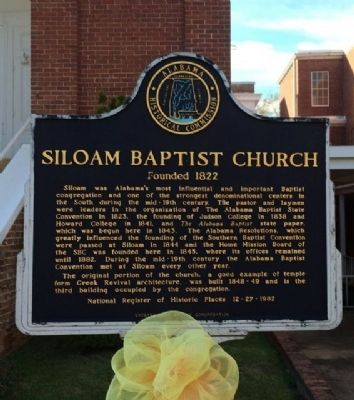 Siloam Baptist Church Marker image. Click for full size.