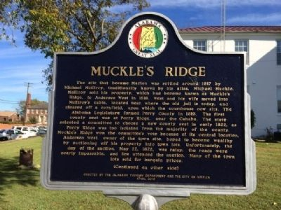 Muckle's Ridge Marker image. Click for full size.