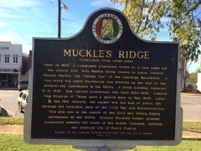 Muckle's Ridge Marker (Reverse) image. Click for full size.
