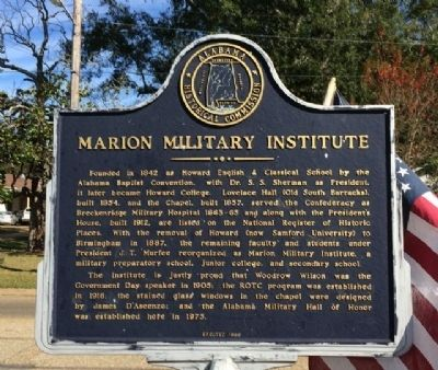 Marion Military Institute Marker image. Click for full size.