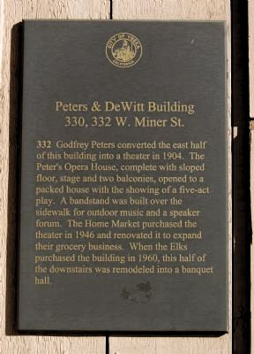 Peters & DeWitt Building Marker image. Click for full size.
